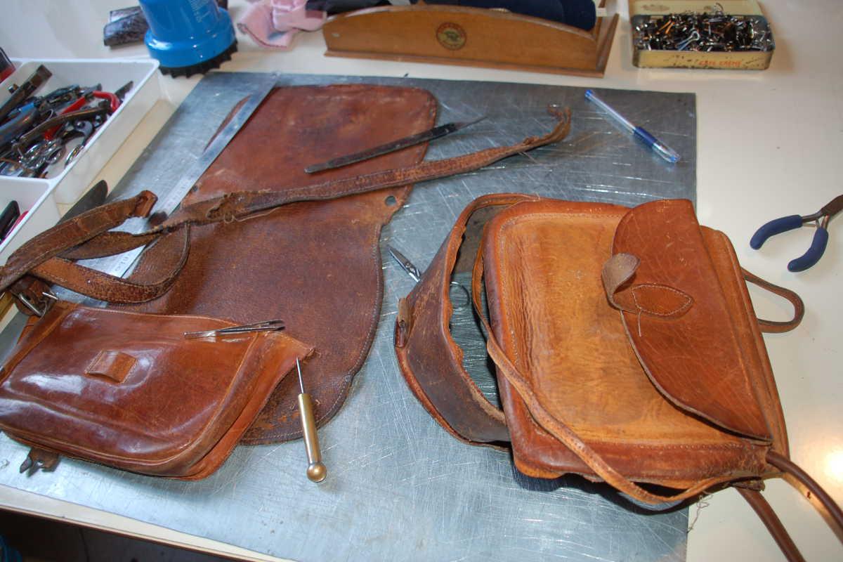 Restauration sac en cuir