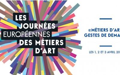 Du 1er au 3 avril : Les Journées Européennes des Métiers d'Art 2016
