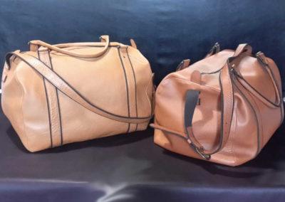 Les jumeaux, sacs de voyage en cuir