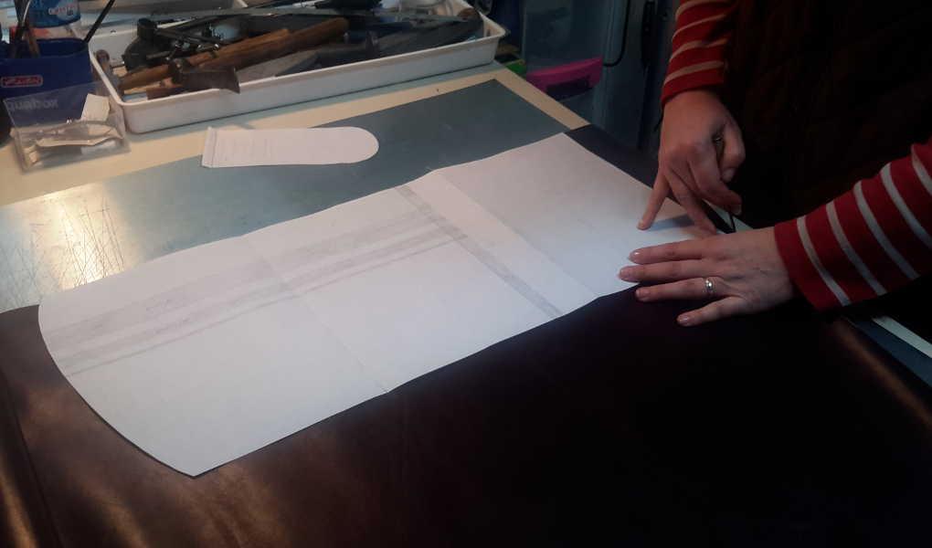 Réalisation d'un sac en cuir