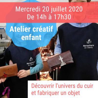 atelier créatif enfants juillet 2020