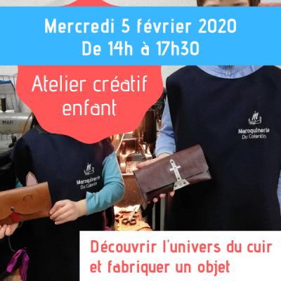 atelier créatif enfants février 2020