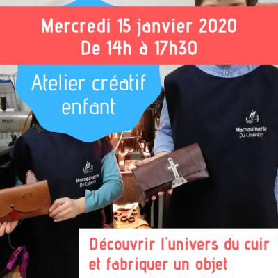 atelier créatif enfants janvier 2020