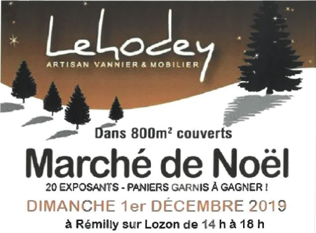 Lehodey marché de noel 2019 - Remilly sur Lozon