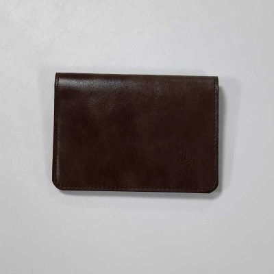 porte carte cuir grand modele marron vintage