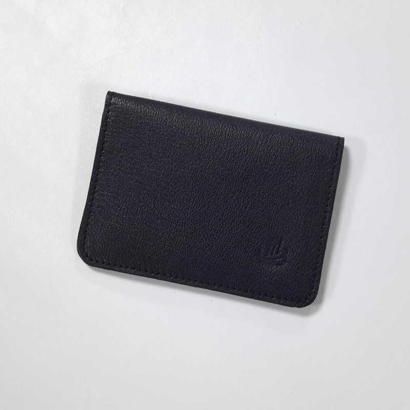 porte carte gm cuir bleu marine