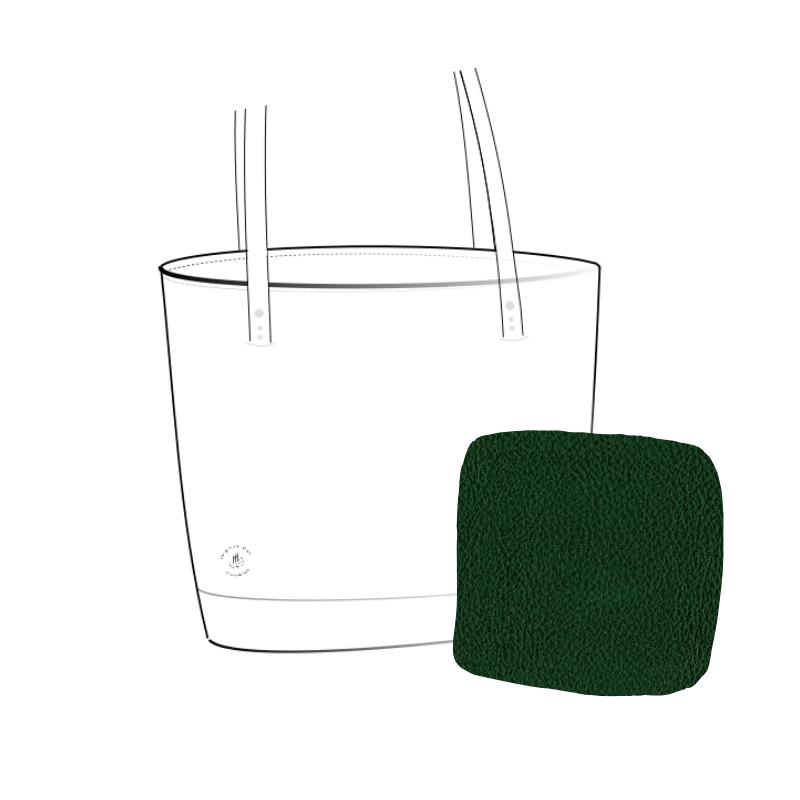 sac cabas souple cuir vert