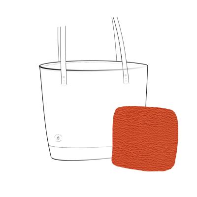 sac cabas cuir souple orange