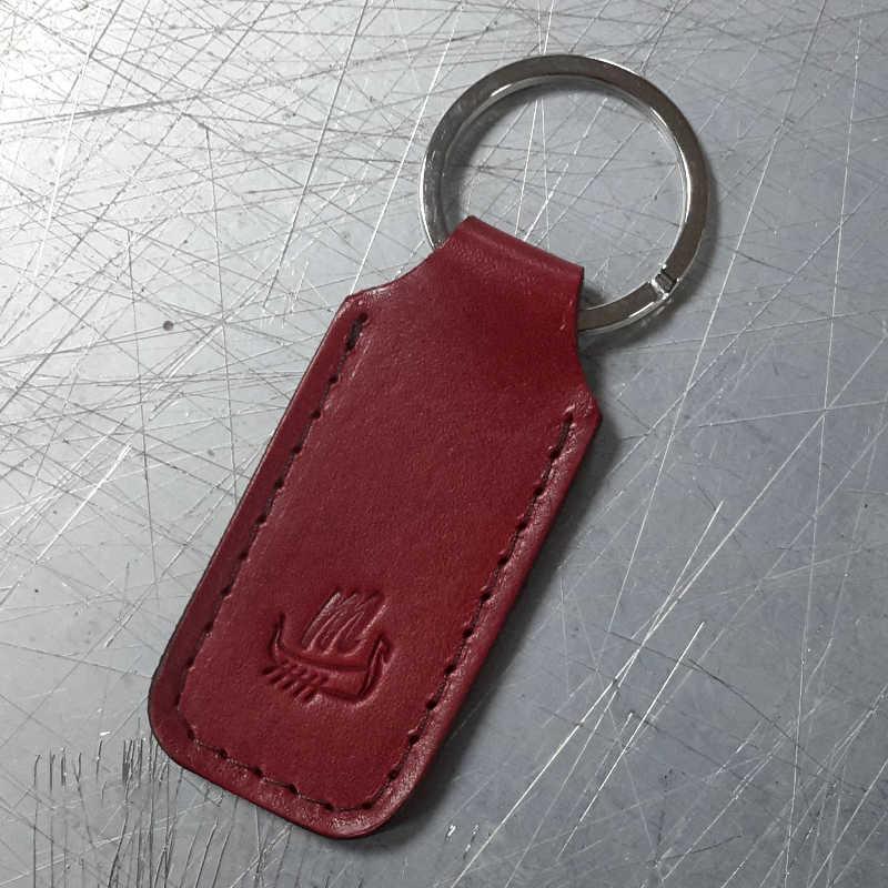 porte-clé-cuir rouge