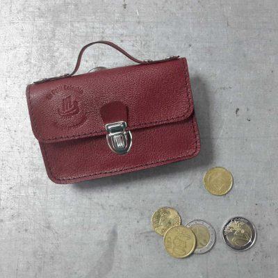 porte monnaie cartable petit cotentin cuir bordeaux