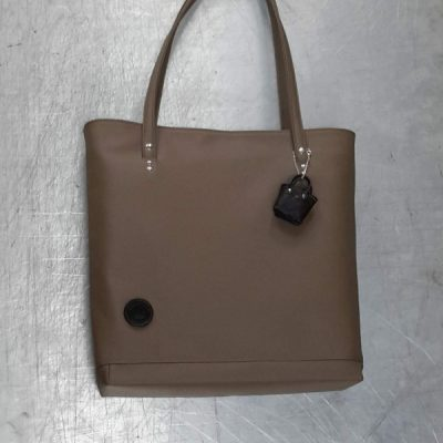 sac cabas cuir couleur taupe