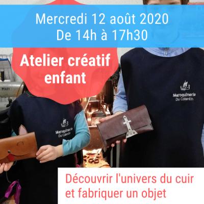 atelier créatif enfants aout 2020