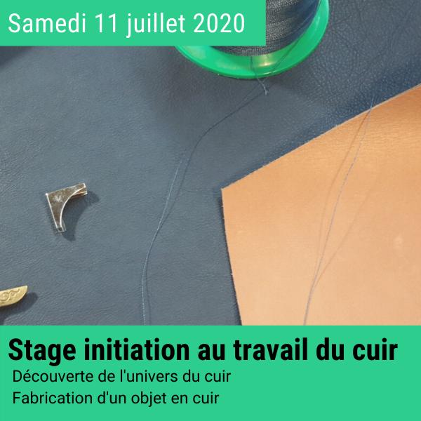 Stage créatif cuir 11 juillet 2020 en Normandie