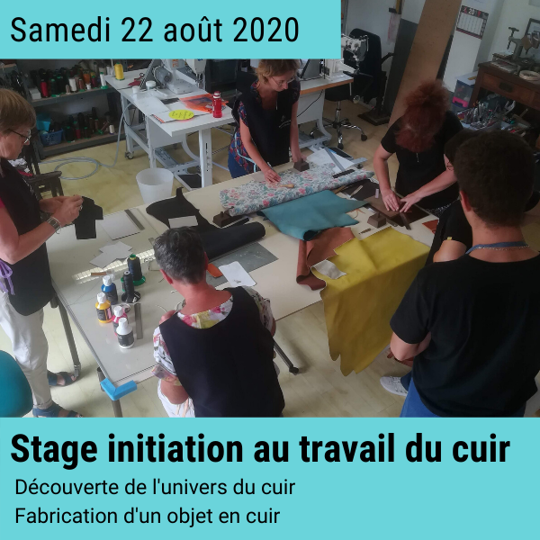 Stage créatif cuir 22 aout 2020 en Normandie