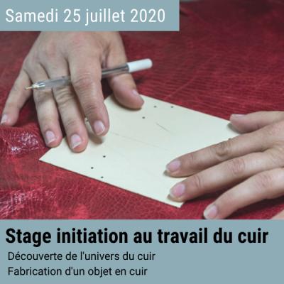 Stage créatif cuir 25 juillet 2020 en Normandie