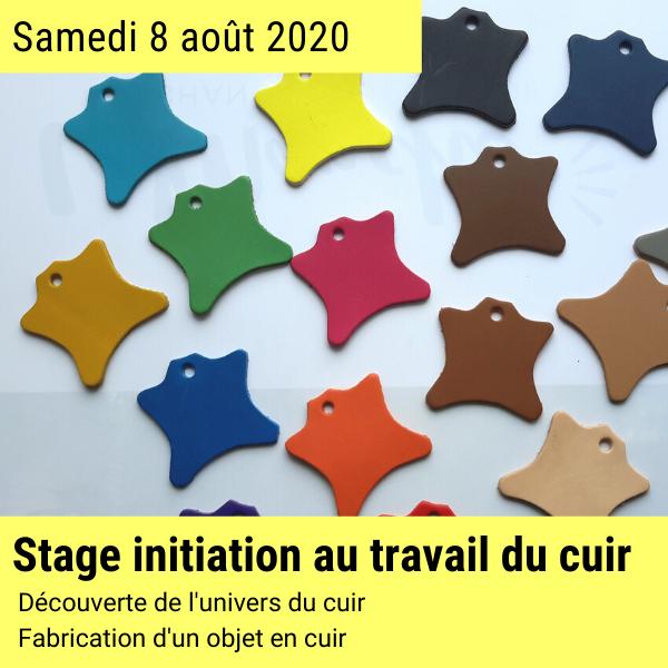 Stage créatif cuir 8 aout 2020 en Normandie