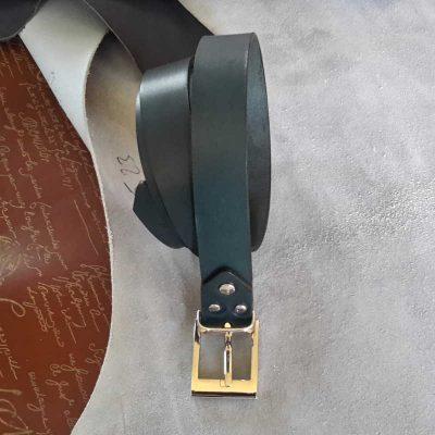 ceinture collet bleu pétrole made in france
