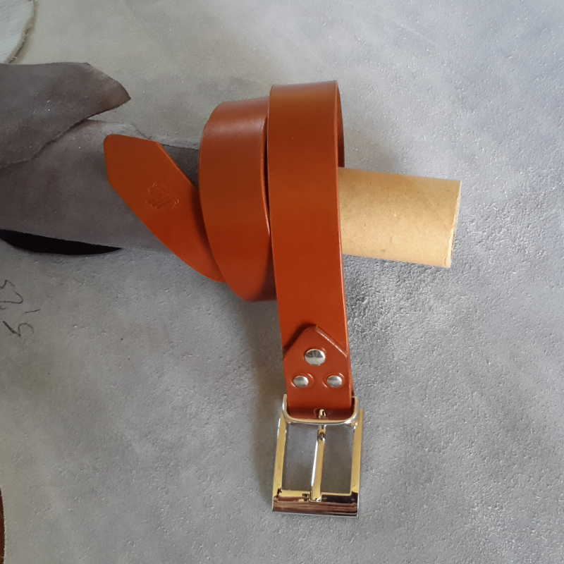 ceinture collet marron made in france