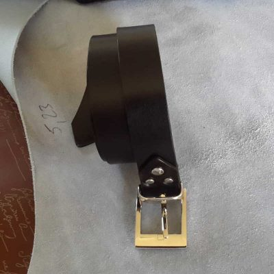ceinture collet noir made in france