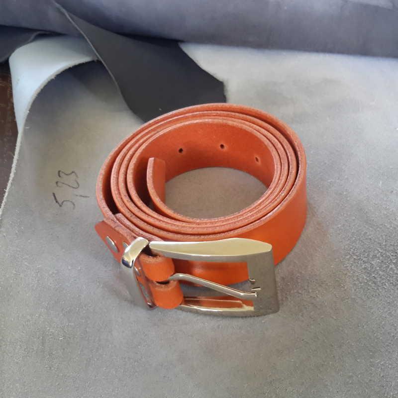ceinture collet orange made in france