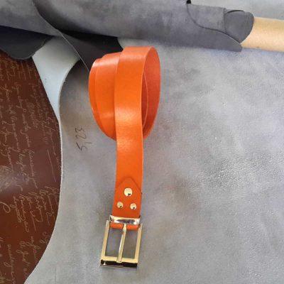 ceinture collet orange made in france