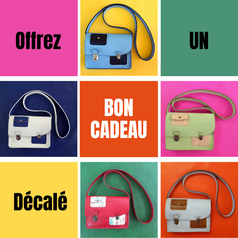 Offrez un sac à main décalé en cuir made in france