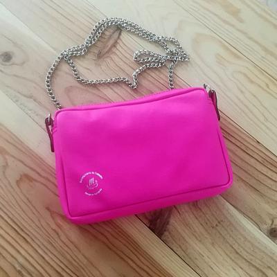 Petit sac à main chaine rose