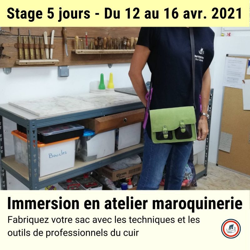 Stage cuir immersion en maroquinerie avril 2021