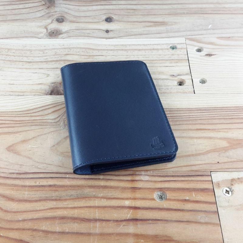 Protege passeport cuir bleu marine