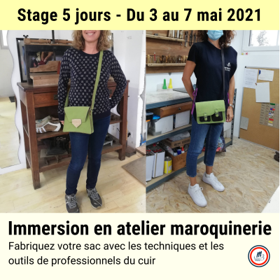 Stage 5 jours maroquinerie mai 2021
