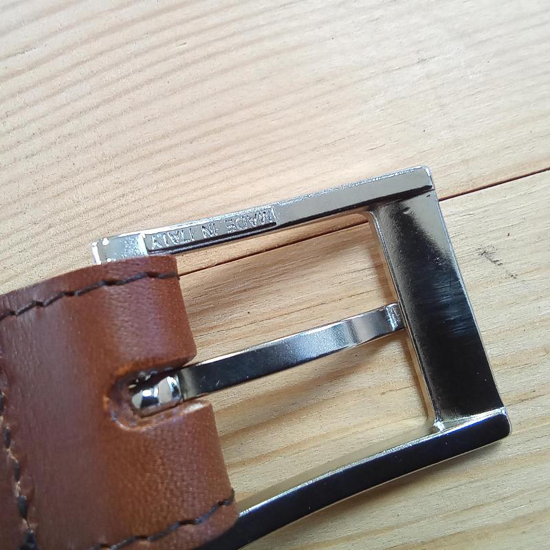 Ceinture cuir boucle 3cm dessous